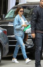 SELENA GOMEZ in Ripped Jeans Out in Beverly Hills 03/16/2018