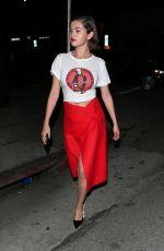 SELENA GOMEZ Leaves Nice Guy in West Hollywood 03/24/2018