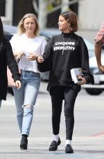 SELENA GOMEZ Out for Lunch in Studio City 03/25/2018