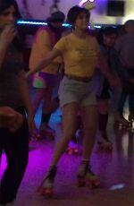 SELENA GOMEZ Roller Skating in Glendale 03/27/2018