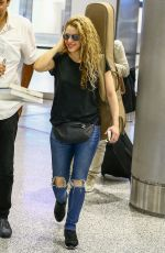 SHAKIRA Arrives at Airport in Miami 03/07/2018