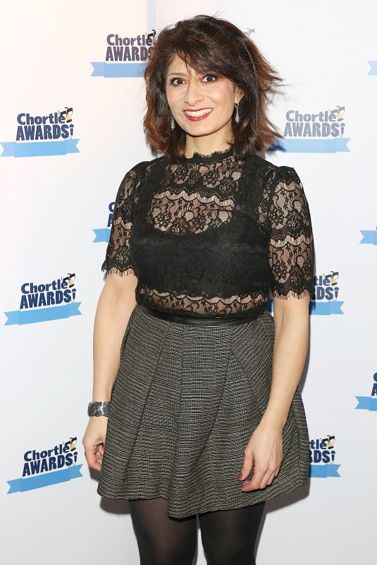 SHAPPI KHORSANDI at Chortle Awards in London 03/19/2018
