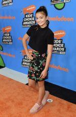 SIENA AGUDONG at 2018 Kids' Choice Awards in Inglewood 03/24/2018