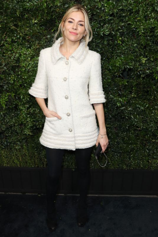 SIENNA MILLER at Charles Finch and Chanel Pre-oscar Dinner in Los Angeles 03/03/2018