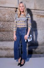 SIENNA MILLER at Louis Vuitton Fashion Show in Paris 03/06/2018