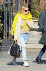 SIENNA MILLER Out in New York 03/01/2018