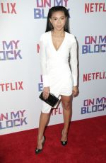 SIERRA CAPRI at On My Block Premiere in Los Angeles 03/14/2018