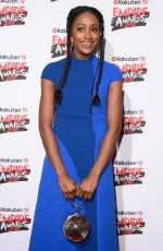 SIMONA BROWN at Empire Film Awards in London 03/18/2018