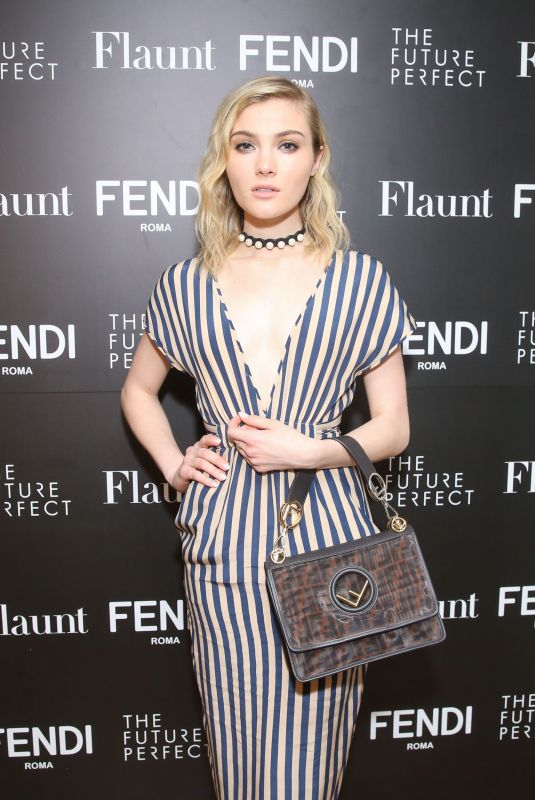 SKYLER SAMUELS at Fendi x Flaunt Celebrate New Fantasy Issue in Los Angeles 03/21/2018