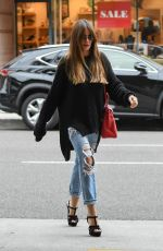 SOFIA VERGARA in Ripped Jeans Out in Beverly Hills 03/20/2018