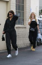 SOFIE RICHIE and LOTTIE MOSS Leaves Nail Salon in Beverly Hills 02/09/2018