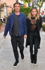 SOPHIA THOMALLA and Gavin Rossdale at Via Alloro in Beverly Hills 03/07/2018