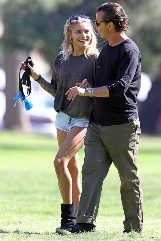 SOPHIA THOMALLA and Gavin Rossdale Out at a Park in Los Angeles 03/29/2018