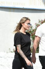 SOPHIA THOMALLA Out in Los Angeles 03/08/2018