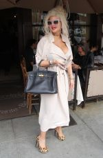 SOPHIA VEGAS WOLLERSHEIN Leaves Il Pastaio in Beverly Hills 03/07/2018