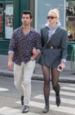 SOPHIE TURNER and Joe Jonas Out Shopping in Paris 03/05/2018