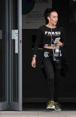 STEPHANIE DAVIS Leaves a Gym in Liverpool 03/30/2018