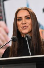 STEPHANIE MCMAHON at WWE Press Conference at Met Life Stadium in East Rutherford 03/16/2018