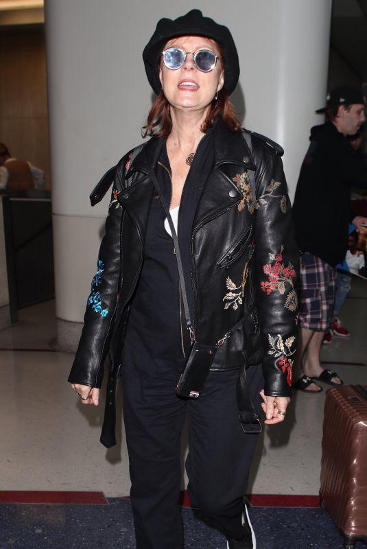 SUSAN SARANDON at Los Angeles International Airport 03/30/2018