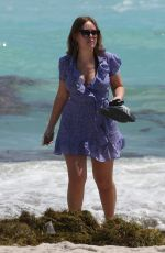 TANYA BURR Out at a Beach in Miami 03/24/2018