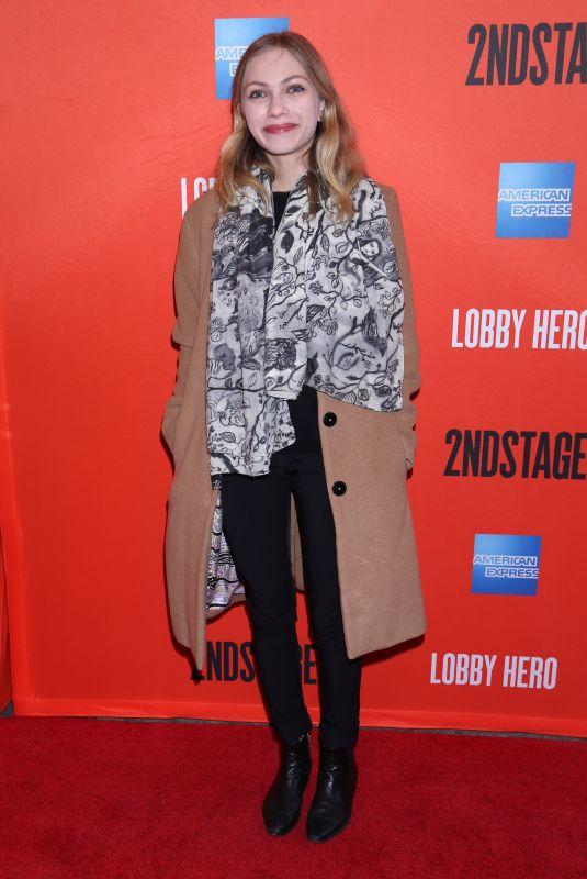 TAVI GEVINSON at Lobby Hero Broadway Opening Night in New York 03/26/2018
