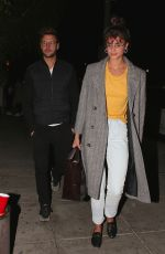 TAYLOR HILL Out for Dinner at Matsuhisa in Beverly Hills 02/28/2018