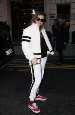 THYLANE BLONDEAU Arrives at Royal Monceau Hotel in Paris 03/03/2018