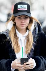 THYLANE BLONDEAU Out and About in Paris 03/01/2018