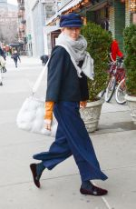 TILDA SWINTON Out and About in New York 03/20/2018