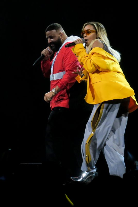 TINASHE and DJ Khaled Performs at a Cocert at The Forum in Los Angeles 03/02/2018