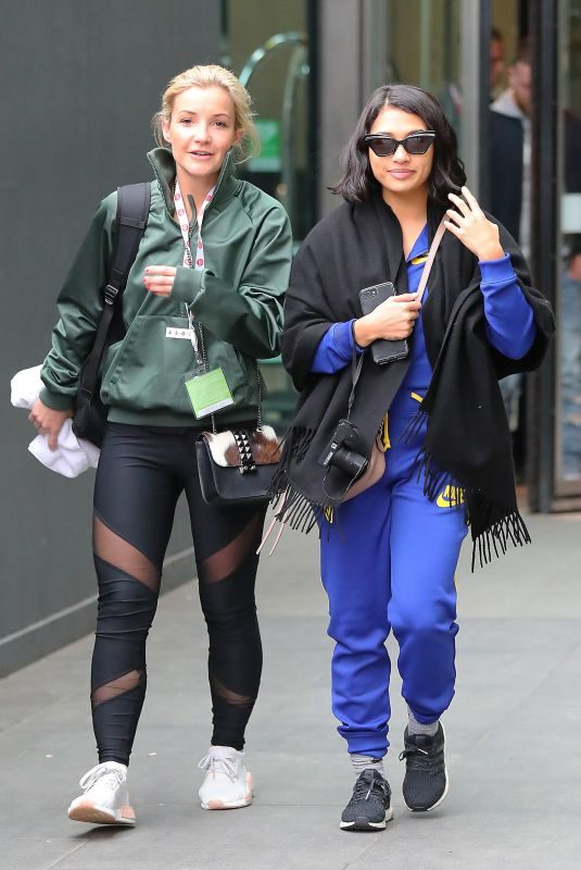 VANESSA WHITE and HELEN SKELTON Leaves Their Hotel in Manchester 03/22/2018