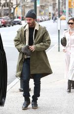 VICTORIA and David BECKHAM Out in New York 03/04/2018