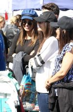 VICTORIA JUSTICE and MADDY GRACE at Farmers Market in Studio City 03/04/2018