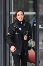 VICTORIA PENDLETON Arrives at Breakfast Studio in Manchester 03/05/2018