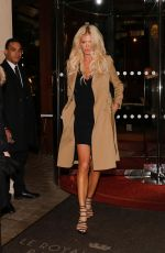 VICTORIA SILVSTEDT Leaves Her Hotel in Paris 03/04/2018