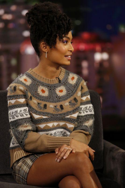 YARA SHAHIDI at Jimmy Kimmel Live 03/12/2018