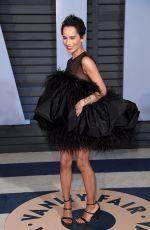 ZOE KRAVITZ at 2018 Vanity Fair Oscar Party in Beverly Hills 03/04/2018