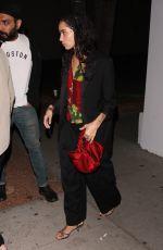 ZOE KRAVITZ at Delilah Restaurant in West Hollywood 03/31/208