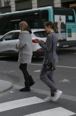 ABBY CHAMPION and CAMBRIE SCHRODER Out in Paris 03/31/2018