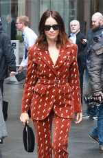 ABIGAIL SPENCER Leaves SiriusXM Studios in New York 04/04/2018