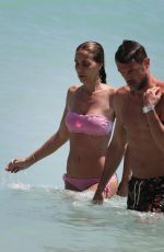 ADRIANA FOSSA and Paolo Maldini at a Beach in Miami 04/16/2018
