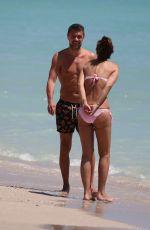 ADRIANA FOSSA and Paolo Maldini at a Beach in Miami 04/16/2018