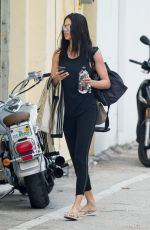 ADRIANA LIMA Arrives at a Gym in Miami Beach 04/12/2018
