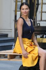 ADRIANA LIMA on the Set of a Photoshoot in New York 04/20/2018