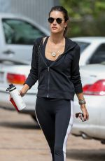 ALESSANDRA AMBROSIO Arrives at Pilates Class in Malibu 04/25/2018