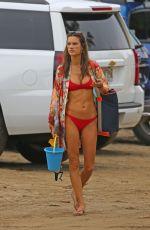 ALESSANDRA AMBROSIO in Red Bikini at a Beach in Hawaii 04/07/2018