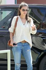 ALESSANDRA AMBROSIO Out for Lunch at Ivy Restaurant in Santa Monica 04/19/2018