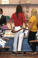ALESSANDRA AMBROSIO Shopping at Gucci Store in Beverly Hills 04/12/2018