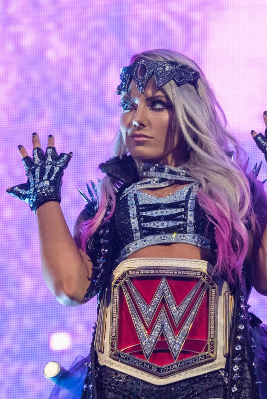 ALEXA BLISS at WWE Wrestlemania 34 in New Orleans 04/08/2018