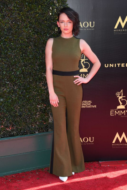 ALEXIS G. ZALL at Daytime Creative Arts Emmy Awards in Los Angeles 04/27/2018